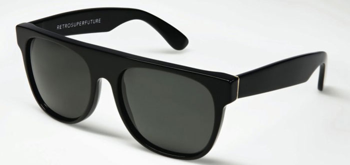Super Sunglasses Flat Top Black 036 Super Sunglasses Flat Top