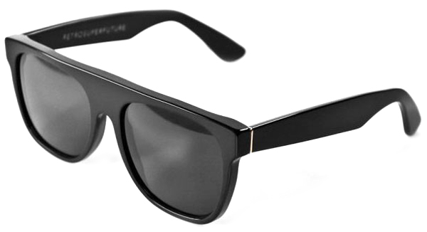 Super Flat Top Sunglasses Black Briar Black Super Flat Top Matte Black 184